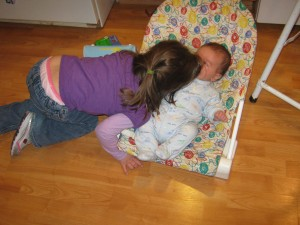 Julianna lying on Michael