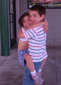 Alex Julianna hug
