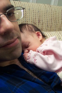 Daddy and Julianna, age 3 weeks