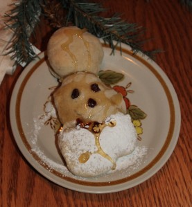 St. Nicholas bread. Like his miter? (Mitre?)