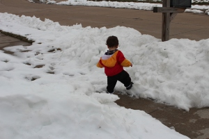 Michael & snow piles