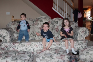 little ones on couch