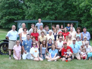 About 2/3 of my mother's family, eight years ago