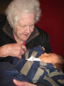 Grandma with Michael, 2011