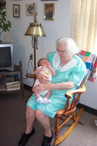 Grandma with Alex, 2005