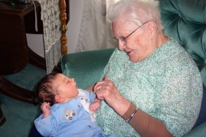 Grandma with Nicholas, 2009