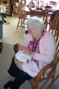 Grandma with Julianna, 2007