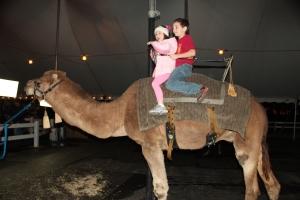 Cousin B, and a camel
