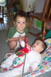 Alex and Julianna, age 25 months & 19 months