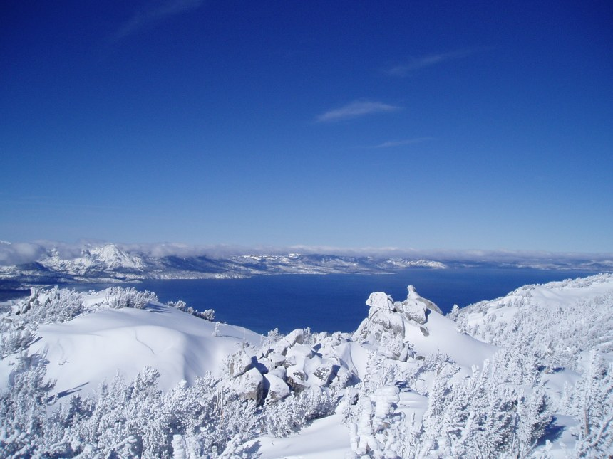 It's worth going skiing just for this view from the top of the mountain.