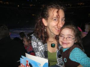 Julianna and I on a mommy-daughter date to Disney On Ice this weekend