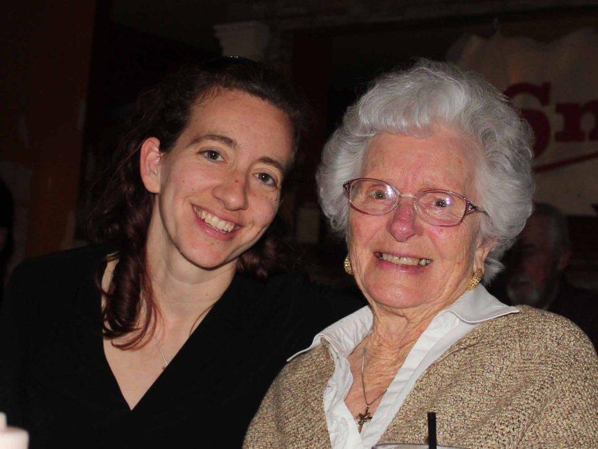 Grandma and me at dinner