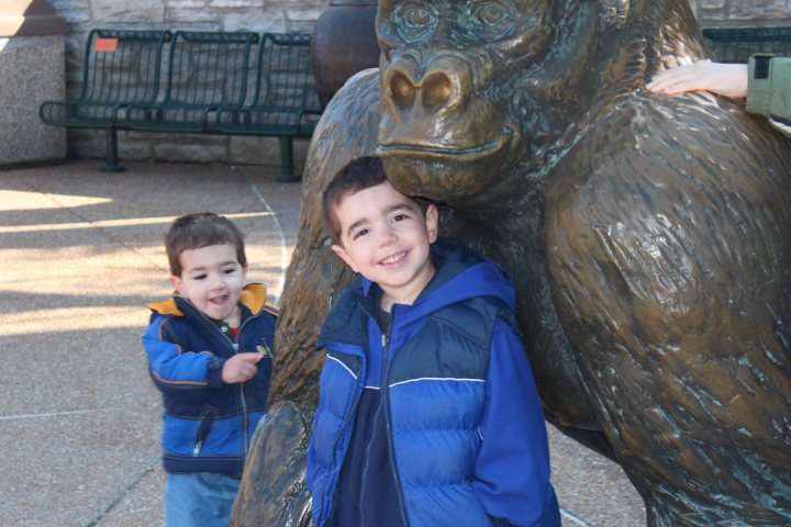 Nicholas (and Michael) with Mr. Gorilla
