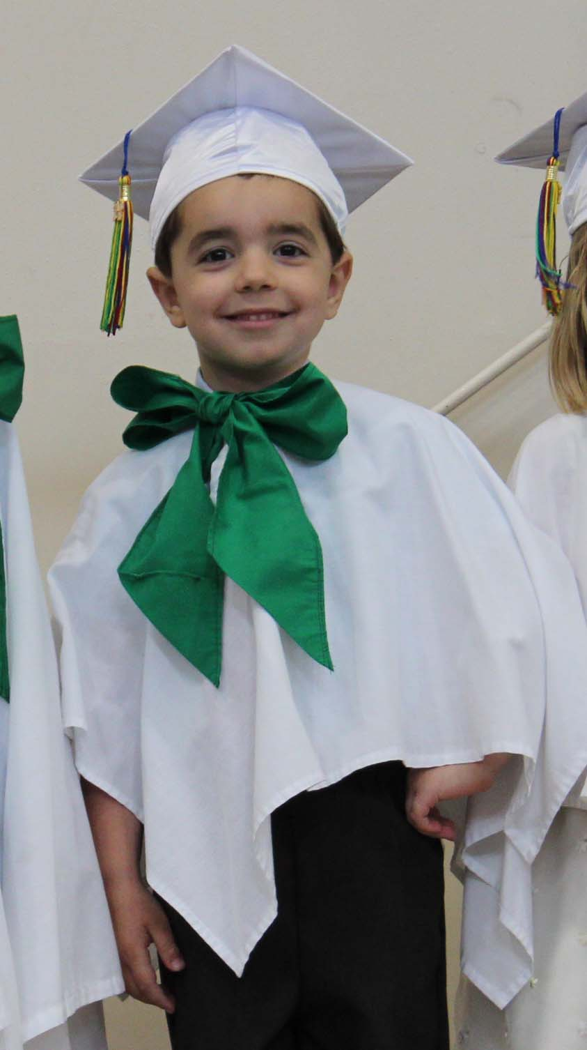 Nicholas' preschool graduation