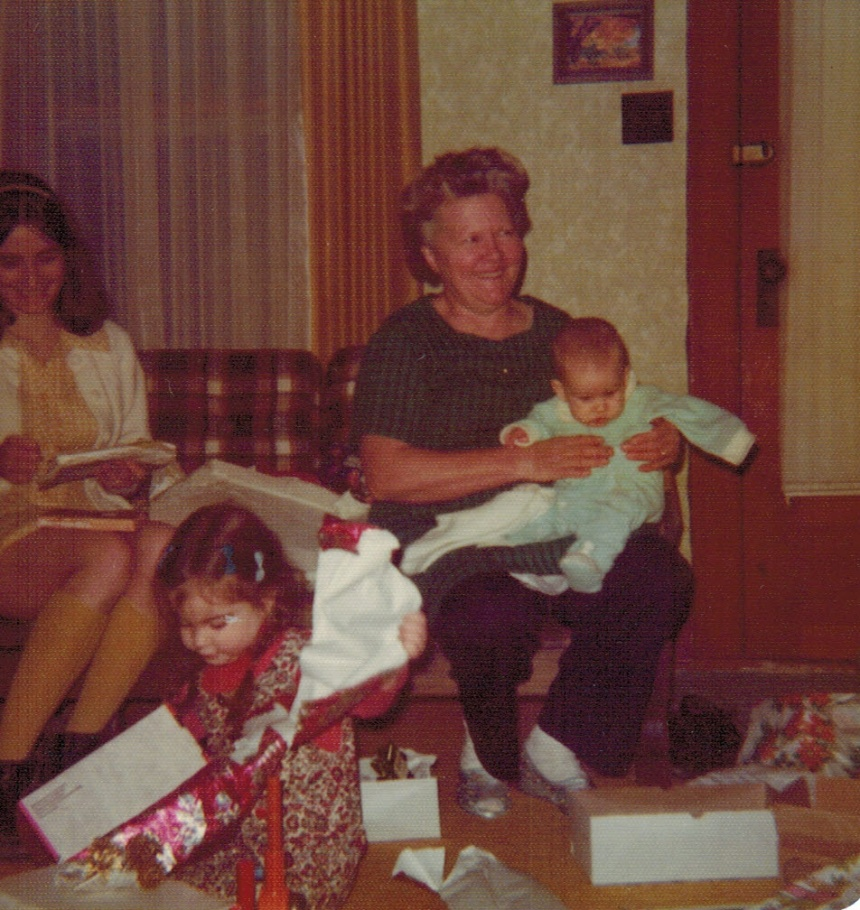 1974, with me on her lap