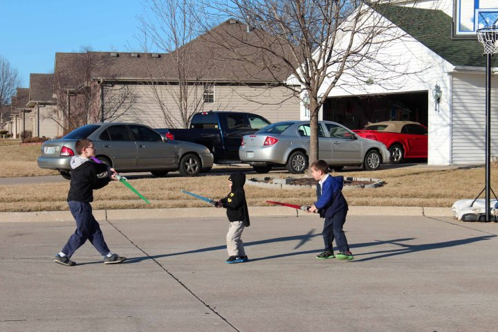 3-way light saber duel