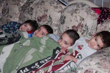 One blanket kids