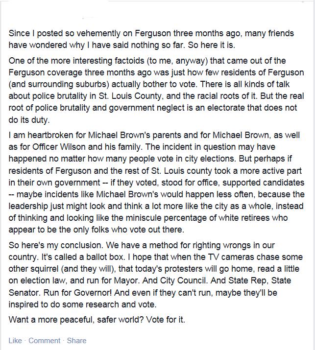 Ferguson status