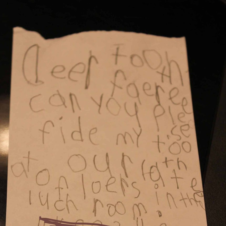 Nicholas tooth fairy letter