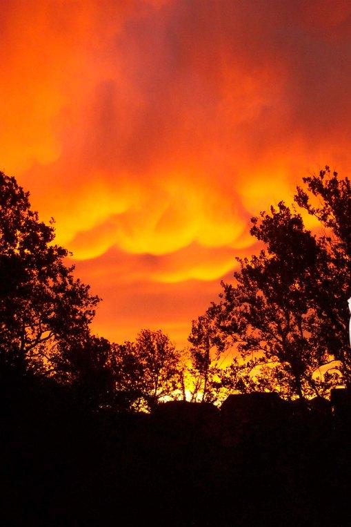 Orange Pouf Sunrise