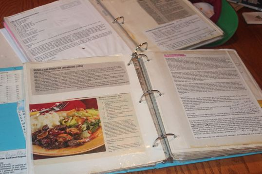 My go-to cookbooks are personal compilations.