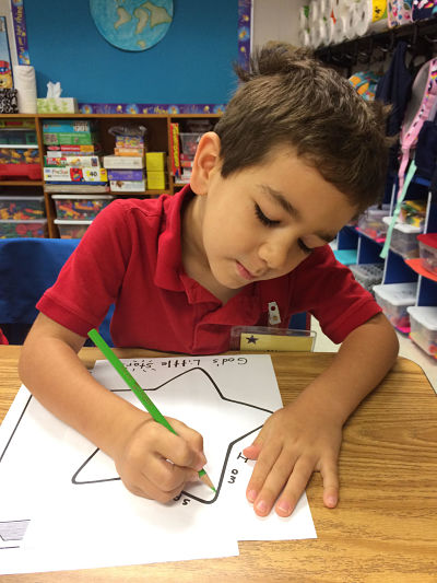 Michael 1st day kindergarten
