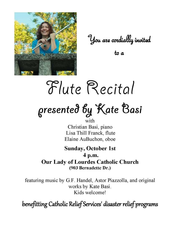 2017 Flute Recital Poster